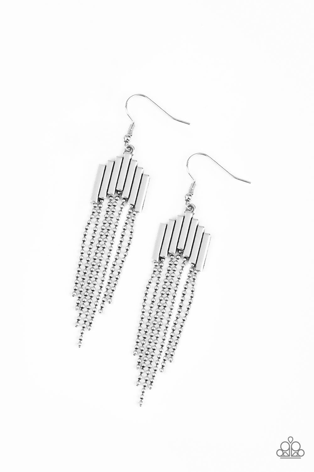Paparazzi Accessories - Radically Retro - Silver Earrings - JMJ Jewelry Collection