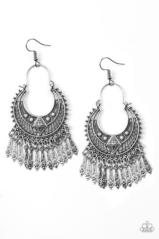 Paparazzi Accessories - Walk On The Wildside - Silver Earrings - JMJ Jewelry Collection