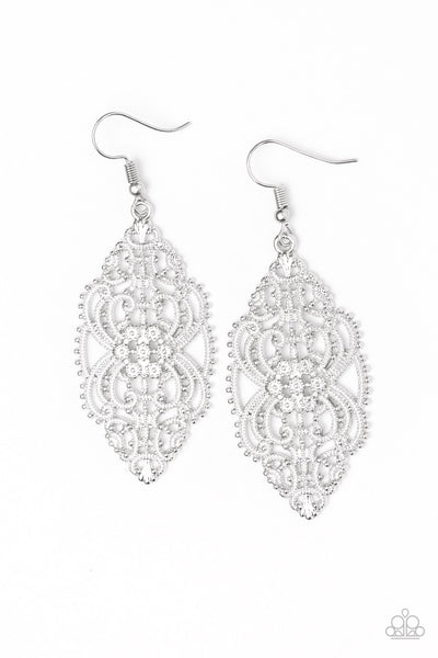 Paparazzi Accessories - Ornately Ornate - Silver Earrings - JMJ Jewelry Collection