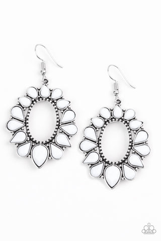 Paparazzi Accessories - Fashionista Flavor - White Earrings - JMJ Jewelry Collection