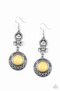 Paparazzi Accessories - Southern Serenity - Yellow Earrings - JMJ Jewelry Collection