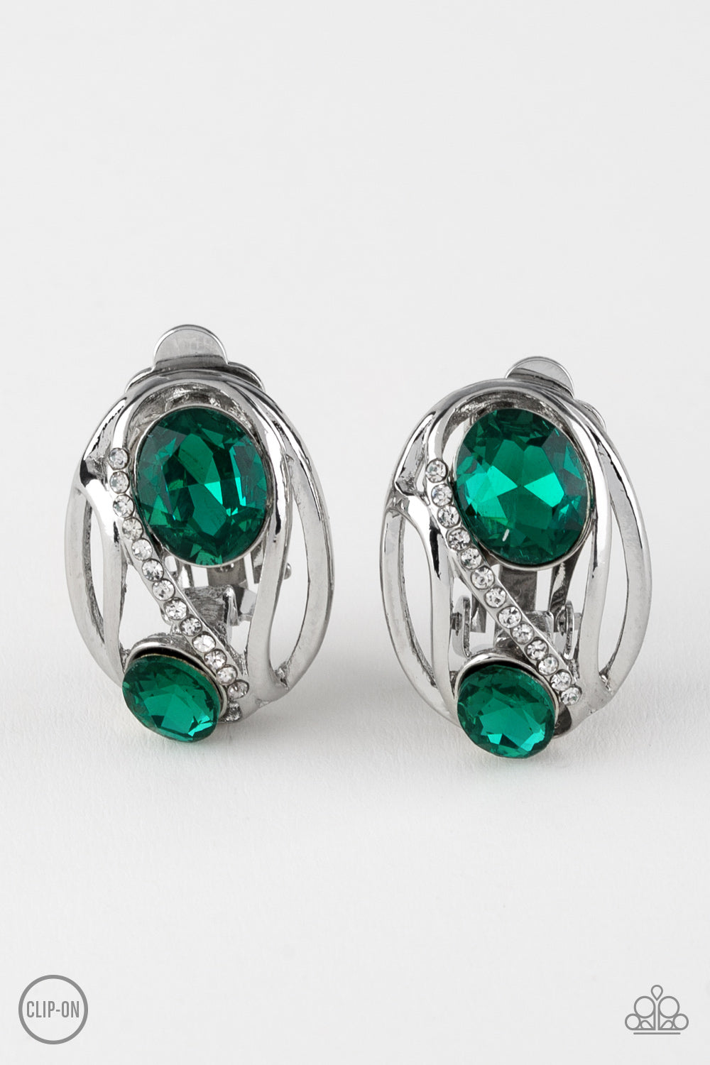 Paparazzi Accessories - Wheres The FIREWORK? - Green Earrings - JMJ Jewelry Collection