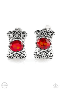 Paparazzi Accessories - Glamorously Grand Duchess - Red Earrings - JMJ Jewelry Collection