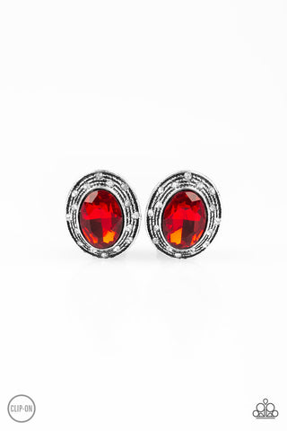 Paparazzi Accessories - East Side Etiquette - Red Earrings - JMJ Jewelry Collection