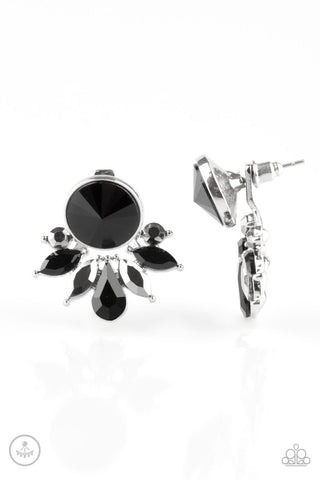 Paparazzi Accessories - Radically Royal - Black Earrings - JMJ Jewelry Collection