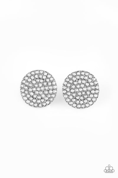 Paparazzi Accessories - Radiant Ripples - White Earrings - JMJ Jewelry Collection
