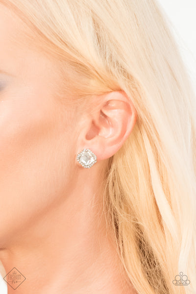 Paparazzi Accessories - Act Your AGELESS - Silver Earrings - JMJ Jewelry Collection