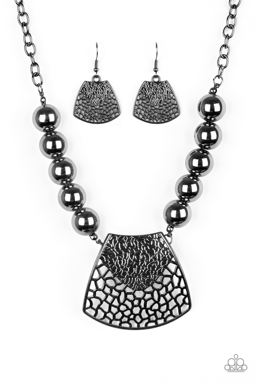 Paparazzi Accessories - Large and In Charge - Black Necklace Set - JMJ Jewelry Collection