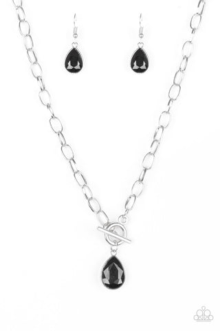 Paparazzi Accessories - So Sorority - Black Necklace Set - JMJ Jewelry Collection