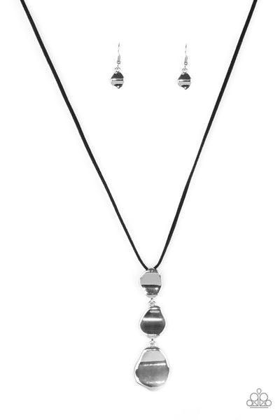 Paparazzi Accessories - Embrace The Journey - Black Necklace Set - JMJ Jewelry Collection
