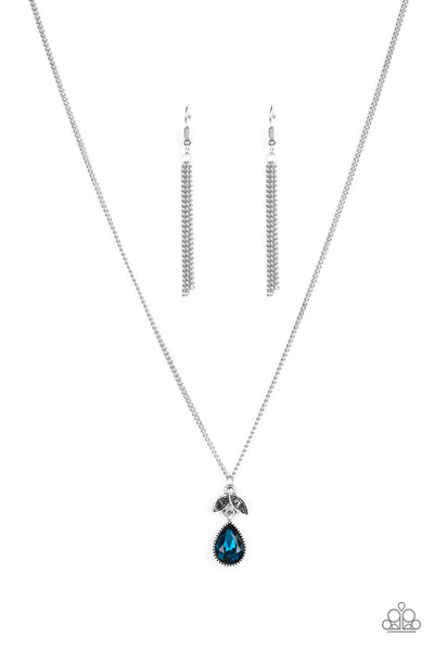 Paparazzi Accessories - Nice To Meet You - Blue Necklace Set - JMJ Jewelry Collection