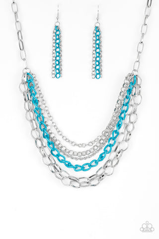 Paparazzi Accessories - Color Bomb - Blue Necklace Set - JMJ Jewelry Collection