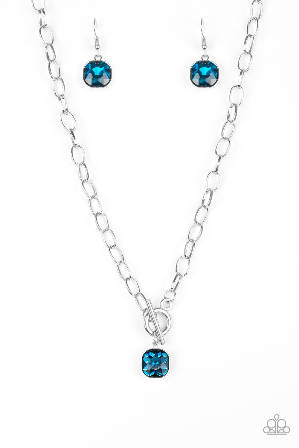 Paparazzi Accessories - Dynamite Dazzle - Blue Necklace - JMJ Jewelry Collection