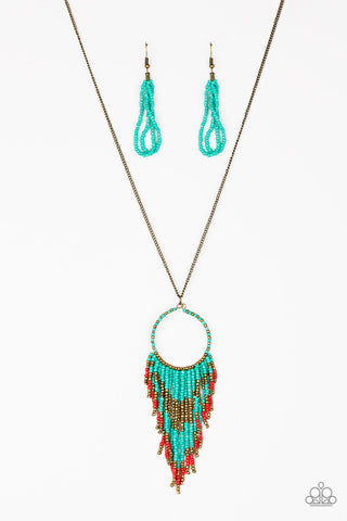 Paparazzi Accessories - Badlands Beauty - Blue Necklace Set - JMJ Jewelry Collection