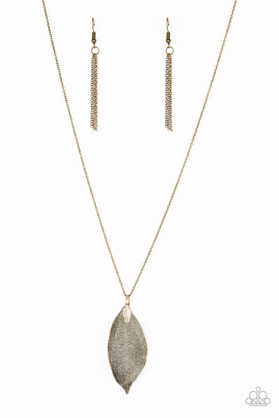 Paparazzi Accessories - Fall Foliage - Brass Necklace Set - JMJ Jewelry Collection