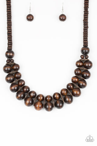 Paparazzi Accessories - Caribbean Cover Girl - Brown Necklace Set - JMJ Jewelry Collection