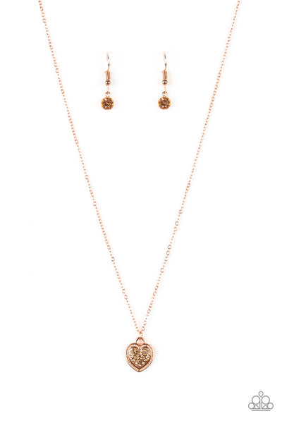 Paparazzi Accessories - Fierce Flirt - Copper Necklace Set - JMJ Jewelry Collection