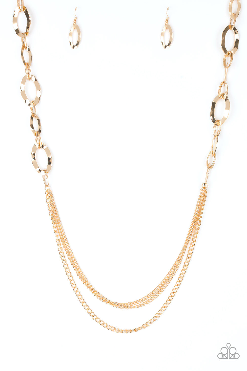 Paparazzi Accessories - Street Beat - Gold Necklace Set - JMJ Jewelry Collection