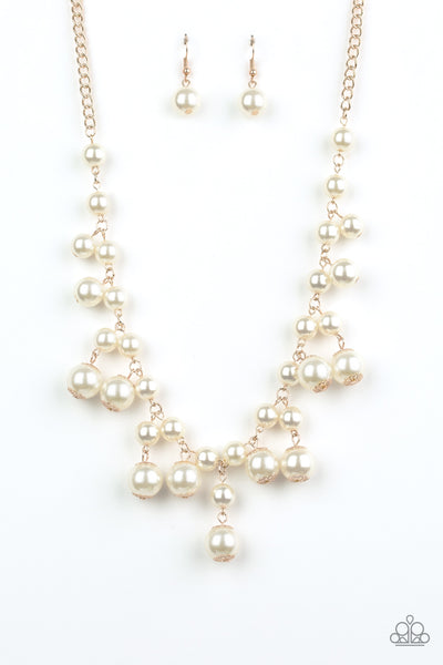 Paparazzi Accessories - Soon To Be Mrs. - Gold Necklace Set - JMJ Jewelry Collection