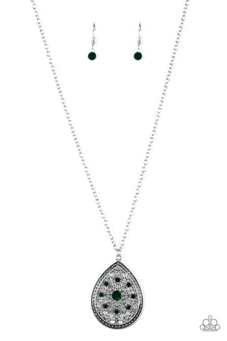 Paparazzi Accessories - I Am Queen - Green Necklace Set - JMJ Jewelry Collection