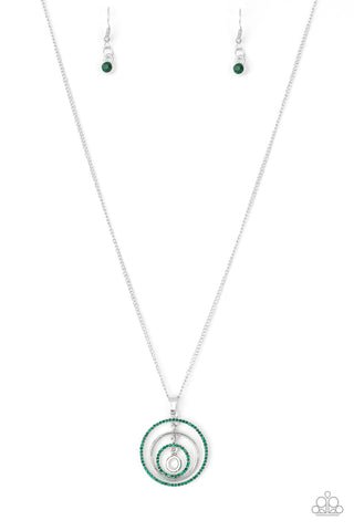 Paparazzi Accessories - Upper East Side - Green Necklace Set - JMJ Jewelry Collection