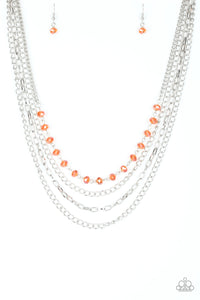 Paparazzi Accessories - Extravagant Elegance - Orange Necklace Set - JMJ Jewelry Collection