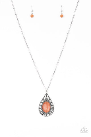 Paparazzi Accessories - Total Tranquility - Orange Necklace Set - JMJ Jewelry Collection