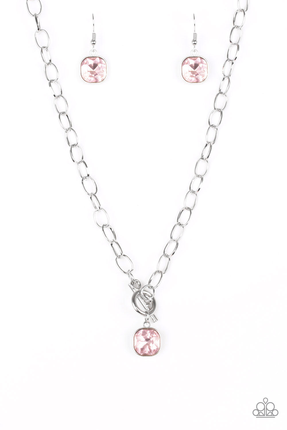 Paparazzi Accessories - Dynamite Dazzle - Pink Necklace Set - JMJ Jewelry Collection