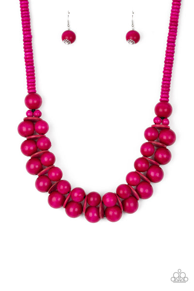 Paparazzi Accessories - Caribbean Cover Girl - Pink Necklace Set - JMJ Jewelry Collection