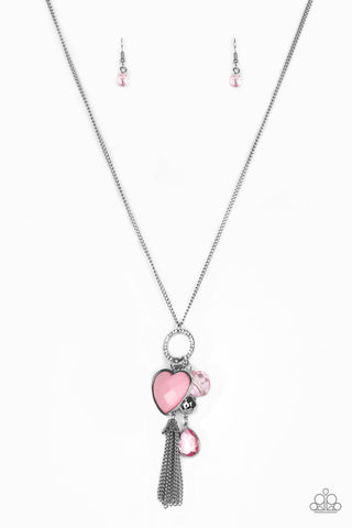 Paparazzi Accessories - Haute Heartbreaker - Pink Necklace Set - JMJ Jewelry Collection