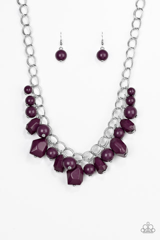 Paparazzi Accessories - Gorgeously Globetrotter - Purple Necklace Set - JMJ Jewelry Collection