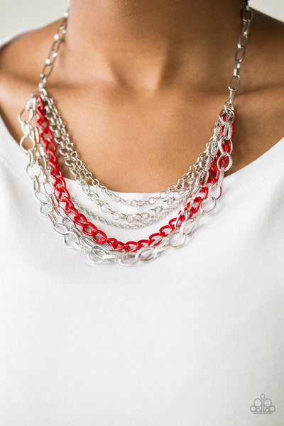 Paparazzi Accessories - Color Bomb - Red Necklace Set - JMJ Jewelry Collection