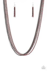 Paparazzi Accessories - Colorful Calamity - Red Necklace Set - JMJ Jewelry Collection