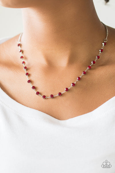 Paparazzi Accessories - Party Like A Princess - Red Necklace Set - JMJ Jewelry Collection