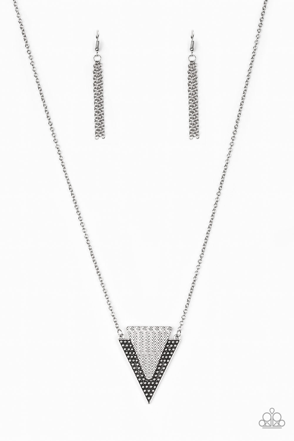 Paparazzi Accessories - Ancient Arrow - Silver Necklace Set - JMJ Jewelry Collection