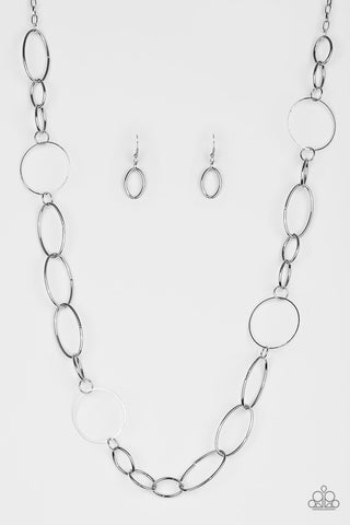 Paparazzi Accessories - Perfect MISMATCH - Silver Necklace Set - JMJ Jewelry Collection