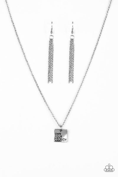 Paparazzi Accessories - Own Your Journey - Silver Necklace Set - JMJ Jewelry Collection