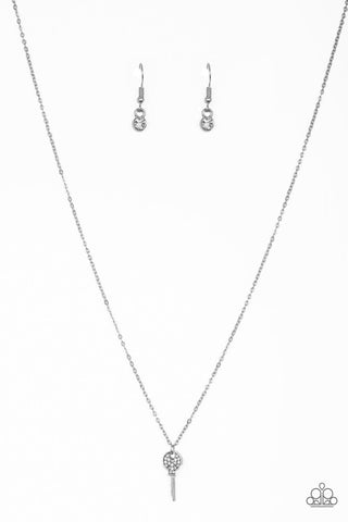 Paparazzi Accessories - Key Figure - White Necklace Set - JMJ Jewelry Collection