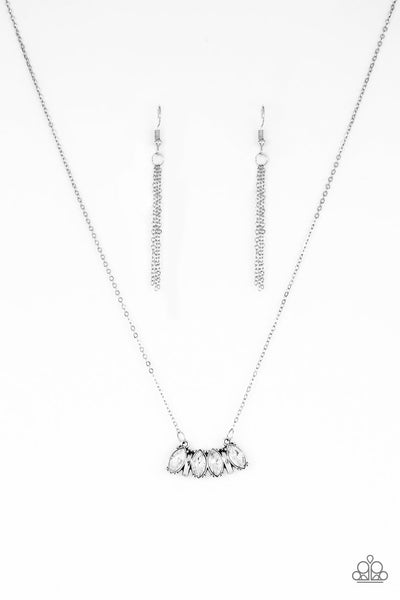 Paparazzi Accessories - Deco Decadence - White Necklace Set - JMJ Jewelry Collection