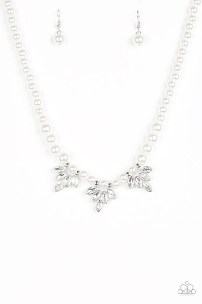 Paparazzi Accessories - Society Socialite - White Necklace Set - JMJ Jewelry Collection