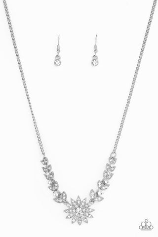 Paparazzi Accessories - Garden Glamour - White Necklace Set - JMJ Jewelry Collection