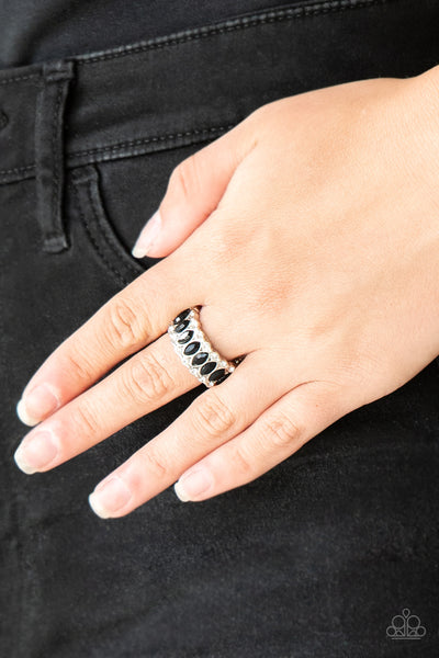 Paparazzi Accessories - Radical Riches - Black Ring - JMJ Jewelry Collection