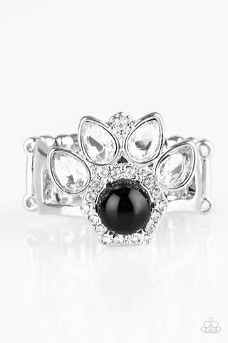Paparazzi Accessories - Crown Coronation - Black Ring - JMJ Jewelry Collection