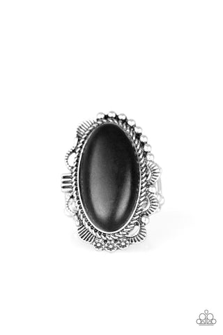 Paparazzi Accessories - Open Range - Black Ring
