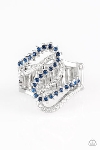 Paparazzi Accessories - Make Waves - Blue Ring - JMJ Jewelry Collection