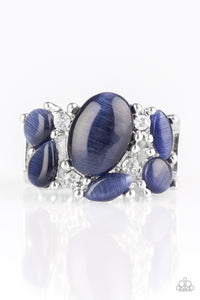 Paparazzi Accessories - Modern Moonwalk - Blue Ring - JMJ Jewelry Collection