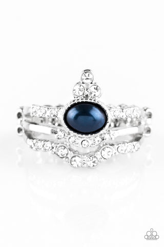 Paparazzi Accessories - Timeless Tiaras - Blue Ring - JMJ Jewelry Collection