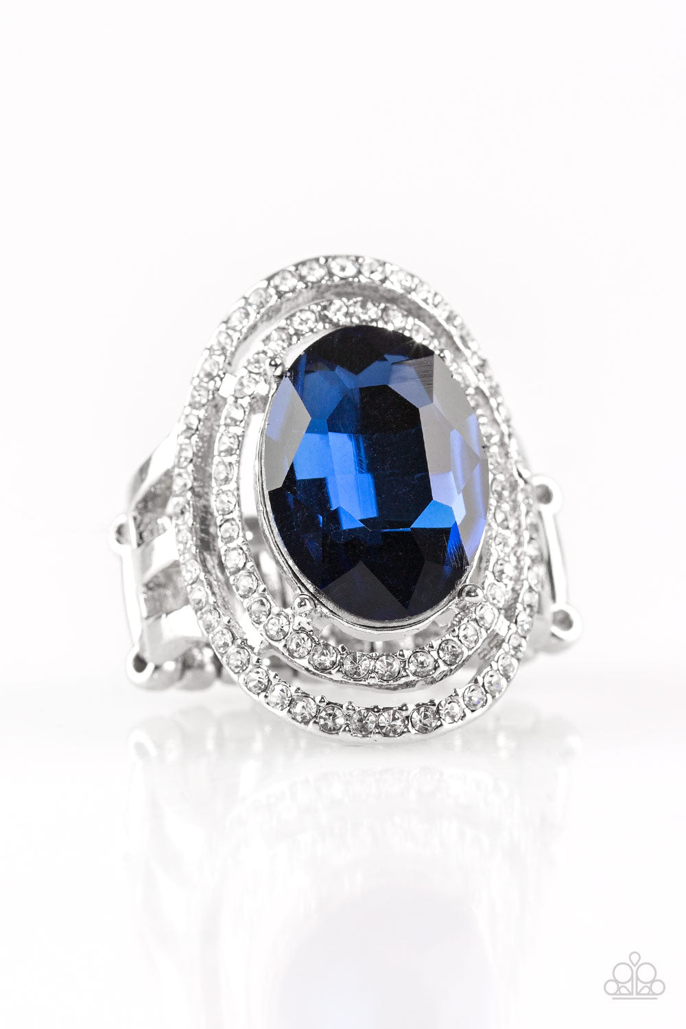 Paparazzi Accessories - Making History - Blue Ring - JMJ Jewelry Collection