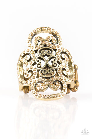 Paparazzi Accessories - Regal Regalia - Brass Ring - JMJ Jewelry Collection