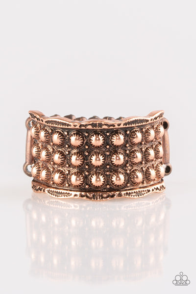 Paparazzi Accessories - Call To Arms - Copper Ring - JMJ Jewelry Collection